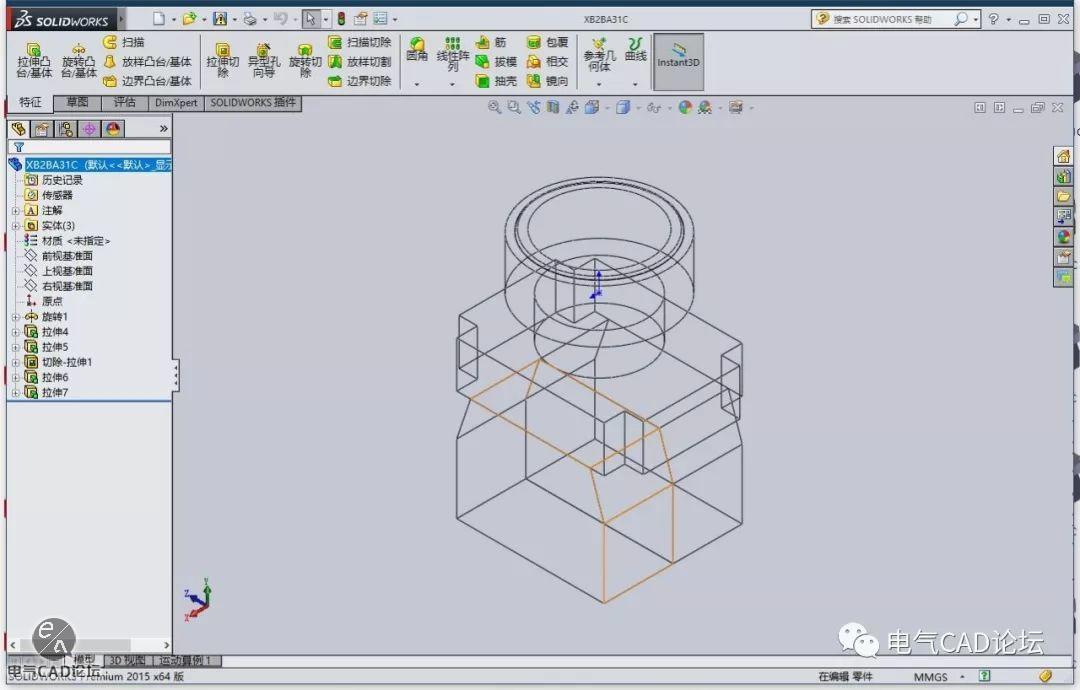 丨模型丨施耐德XB2B系列三维模型